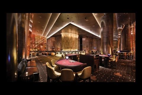 """This room in the Aria hotel is for """"high-rollers"""" – gamblers who play for large amounts of money"""